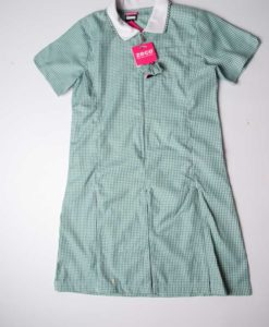Courthouse School Green Gingham Pinafore Dress
