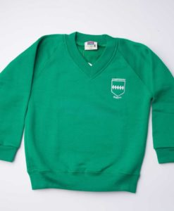 Courthouse School Emerald V-Neck Sweatshirt