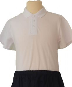 St Bernards White Polo Shirt