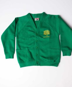 Wessex Primary Green Cardigan