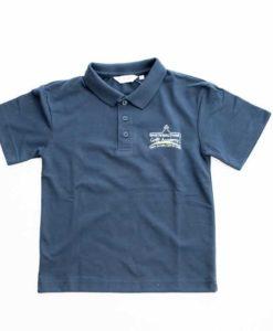 White Waltham Academy Navy Polo Shirt