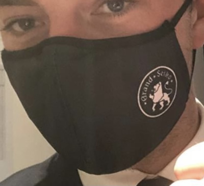 COVID face mask with company or school logo