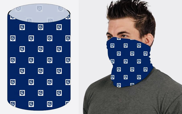 COVID snood with company or school logo